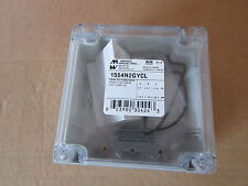 Hammond 1554N2GYCL Watertight PC Enclosure Clear Lid 120x120x60mm Grey 8685113