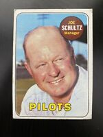 1969 Topps Baseball Card # 254 Joe Schultz - Seattle Pilots