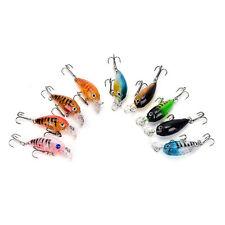 9Pcs/set fishing lure hard bait pesca  wobbler swimbait crankbaits 4.5cm/4g、Fad