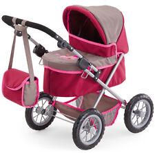 Babypuppen & Zubehör Puppenwagen Ovp Großer Puppenwagen Pink Höhenverstellbar 43-63cm Klappbar Neu