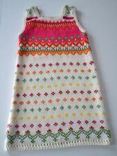Girls BABY GAP Sz 5y Off White Pink Fair Isle Sleeveless Knit Sweater Dress