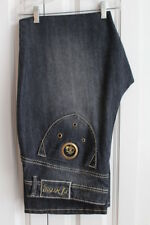 Womens Plus Sz 20 W Stylish Dereon Black Distressed Denim Jeans