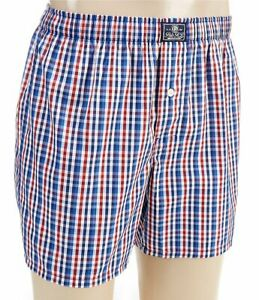 Polo Ralph Lauren Men's Red/White/Blue Check Boxers Classic Fit Large NWT