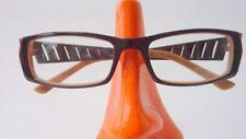 Brillen Gestell für Damen Brille frame elegant breite Bügel braun schmal Gr M