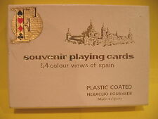 Vintage Souvenir Playing Cards Spain Plastic Coated Heraclio Fournier