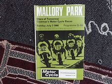 1966 MALLORY PARK PROGRAMME 3/7/66 - STARS OF TOMORROW CLUBMAN MOTOR CYCLE RACES