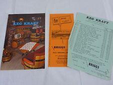 Vtg 1975 Keg Kraft Creations Color Brochure Barrell Furniture Briggs Originals