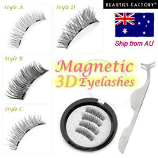 3d Triple Magnetic False Eyelashes Handmade With Tweezers Natural Extension 3068 X - All of Above