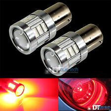 2X BAY15D 1157 40W Red LED Rear Brake Stop High Power Tail Lamp Light Bulbs Pair
