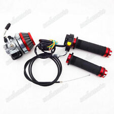 Red Carburetor Air Filter Grips Cable Switch For 50cc 60 80cc Motorized Bicycle