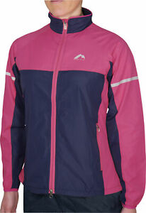 More Mile Wind Water Resistant Select Woven Womens Running Jacket Navy