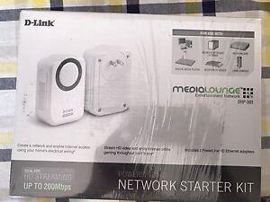 D-Link DHP-303 PowerLine HD Network Starter Kit - owner's refurbished
