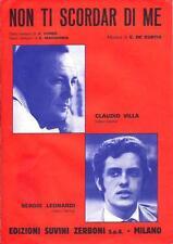 Non ti scordar di me ( Claudio Villa e Sergio Leonardi )  Spartito musicale 1968
