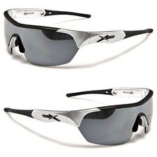 X-Loop Silver Wrap Design Mirrored Lens Mens Womens Sport Sunglasses