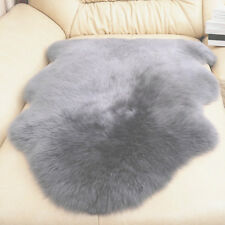 UK Faux Imitation Sheepskin Chair Cover Pad Skin Carpet Fluffy Fur Room Rug