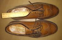 Mens 8.5 PORTER HAWKINS ENGLAND Bespoke Shoes Brown Derby Wingtip Brogues Shoes