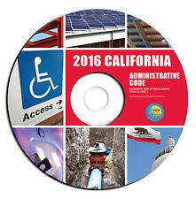 NEW 2016 California Administrative Code-Building Regulations PDF eBook on CD