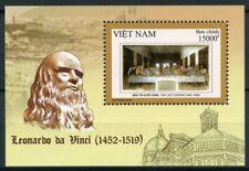 Vietnam Art Stamps 2019 MNH Leonardo Da Vinci Last Supper Paintings 1v M/S