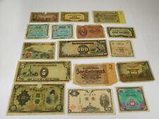 World War II International Paper Money Lot- 16 Notes