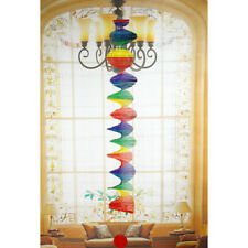 Rainbow Spiral Windmill Colorful Wind Spinner Garden Home Decorations XL