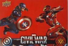 CAPTAIN AMERICA : CIVIL WAR  2017 RETAIL Trading Card Set of  50 WALMART CW1-50