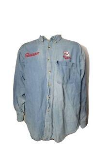 Dale Earnhardt Sr. #3 The Intimidator Nasar Vintage Denim Shirt Embroidered VTG