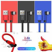 Micro USB Cable de carga rápida de 90 grados Data Cable Cargador Samsung Android