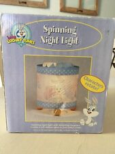 Baby Looney Tunes Spinning Night Light Characters Rotate Vintage NIB