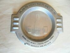 Vintage Art Deco Aluminum Planet Club Budweiser Beer Advertising Ashtray
