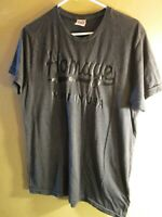 Men's HOMAGE MADE IN THE USA Black Chest Logo T-Shirt LARGE Dark Gray LOVED