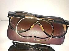 f02c3e73e41 MASERATi 6119 01 gold rare ski 2 lenses adjustable 2 arms Aviator sunglasses