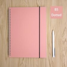 Pink Dot Grid Spiral Notebook Bullet Journal Big B5 Hardcover, Dotted 160 Pages