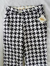 LOUDMOUTH GOLF black white plaid unfinished hem trousers pants 28 NEW