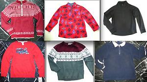 HANNA ANDERSON Boys ZIP Neck NORDIC TRAIN ROBOT KNITTED & FLEECE Sweater 5 6 7 8