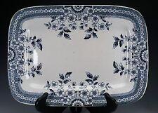 "Aesthetic Blue White Transferware Staffordshire A & F Co, FOLEY 14"" Platter - C"