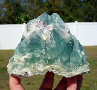 BLUE Fluorite All Natural Crystal Self Standing Display Point Mexico Fabulous