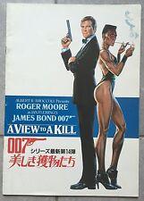 Dossier de Presse Japonais DANGEREUSEMENT VOTRE View to a Kill MOORE James Bond