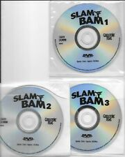 SLAM BAM DVD-3 DISC SET ONLY-WRESTLING-WWE-WCW-WWF-WWW-NO CASE-NO INSERT