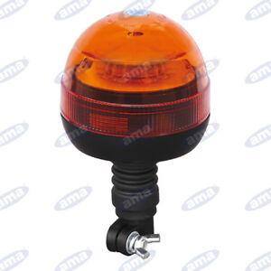 LAMPEGGIANTE GIROFARO A LED CON BASE FLESSIBILE ANTIURTO 12/24V MULTIFUNZIONE