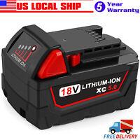For Milwaukee M18 18V LITHIUM XC 5.0Ah Extended Capacity Battery Pack 48-11-1850