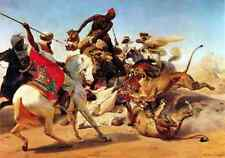 Horace Vernet The Lion Hunt A4 Print