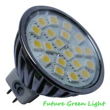 MR16 20 SMD LED 3.5W 12V (11-30V) 320LM WHITE BULB WITH GLASS COVER ~50W