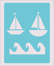 Waves Boat Stencil Crafts Paint Color Wall Decoration  Kids Template #38