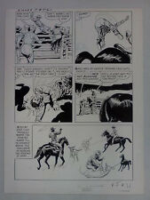 DELL MOVIE CLASSIC 12-746-702 SMOKY JACK SPARLING ORIGINAL COMIC ART PAGE 21 Comic Art