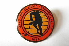 Vintage 1989 Days Inn Classic Evansville IN Minor / Pee Wee Hockey League Pin