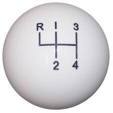 Bright White 4 Speed like Hurst Shift Knob 3/8-24 thd