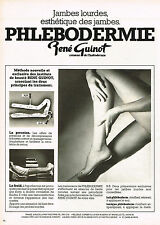PUBLICITE ADVERTISING  1980   RENE GUINOT  cosmétiques  PHLEBODEMIE