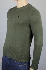 Polo Ralph Lauren XX-Large XXL Green Crewneck Sweater Burgundy Pony NWT