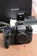 Fujifilm X-H1 24.3MP Digital Camera - Black Body Only w/Flash & Box ~9 Clicks!