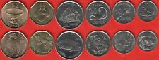 Fiji set of 6 coins: 5 cents - 2 dollars 2012-2014 UNC